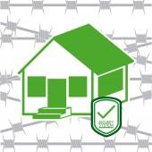 дизайн системы безопасности — Cтоковый вектор