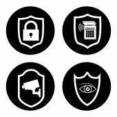 Güvenlik sistemi tasarımı — Stok Vektör