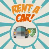Rent a car design  — Stockvektor