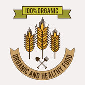 Bio-Lebensmittel-design — Stockvektor