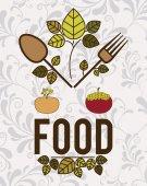 Organic food design — Stock Vector