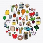 Projekt kuchni — Wektor stockowy