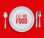 Mat utformning — Stockvektor