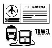 Seyahat tasarım — Stok Vektör