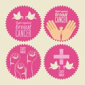 Projekt rak piersi — Wektor stockowy