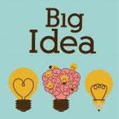 大きなアイデア デザイン — ストックベクタ