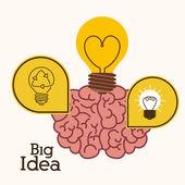 Big idea design — Vettoriale Stock