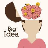 Big idea design — Stock Vector