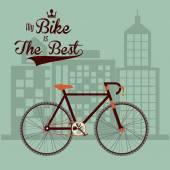 Projeto de estilo de vida de bicicleta — Vetor de Stock
