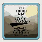 Bike lifestyle design — ストックベクタ