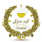 オリーブ油のデザイン — ストックベクタ