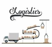 Logistics and delivery design — Stock Vector