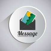 Disegno di messaggio — Vettoriale Stock