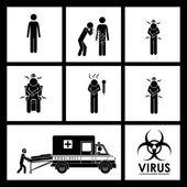 Virus design — Stock Vector