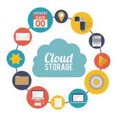 Cloud Storage design — 图库矢量图片