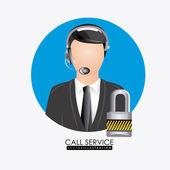 Call центр дизайна — Cтоковый вектор