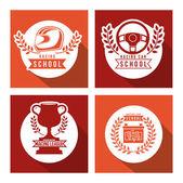 Racing School design — ストックベクタ