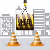 Under construction design — Stockvektor