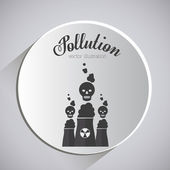 Pollution design  — Stock Vector