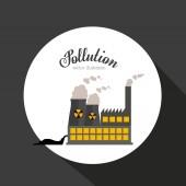 Projeto de poluição — Vetor de Stock