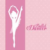 Ballet dance design — Stock Vector
