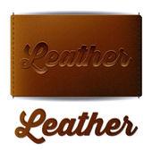 Leather design — Stockvektor