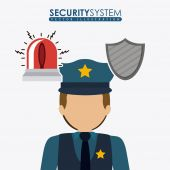 Security system design — Stock Vector