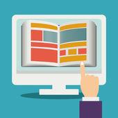 E-learning design  — Stockvector