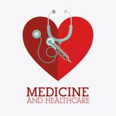 Medicine and healthcare design — Vettoriale Stock