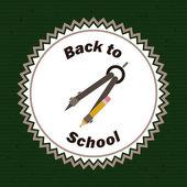 Zurück zu Schule design — Stockvektor