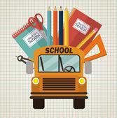 Volta para escola design — Vetor de Stock
