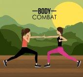 Body Combat design  — Stock Vector