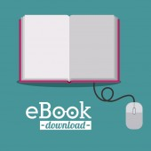 E-book design — Stock Vector