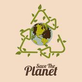 Eco Planet design — Stockvektor
