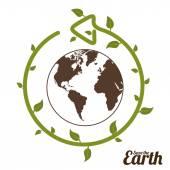 Eco Planet design — Stock Vector