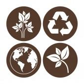 Eco Planet design — Stok Vektör