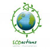 Eco Planet design — Vetor de Stock