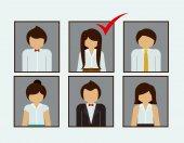 Human Resources design — Stock Vector