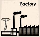 Factory design  — Stock Vector
