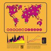 Infográfico design — Vetor de Stock