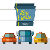 Big Sale design  — ストックベクタ