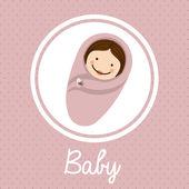 Bebek duş tasarım — Stok Vektör