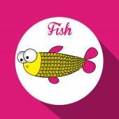 Desenho de peixe — Vetor de Stock
