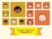 Social Network design  — Stock Vector