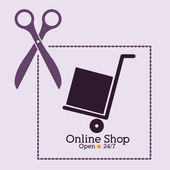 Alışveriş online tasarım — Stok Vektör