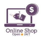 Shopping online design — Stock Vector