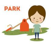 Progettazione del parco — Vettoriale Stock