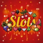 Slots design — Vector de stock