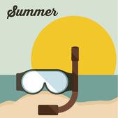 夏のデザイン — ストックベクタ