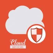 Cloud Services design — Stock Vector